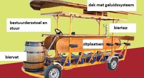 beer bike description en dutch