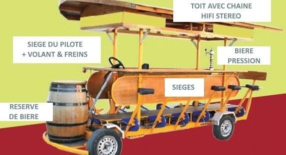 beer bike description en francais